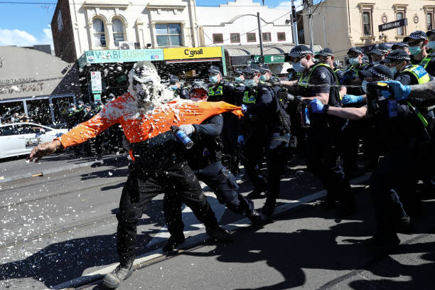 AUS: Anti-Lockdown Protesters Rally Against COVID-19 Restrictions In Melbourne