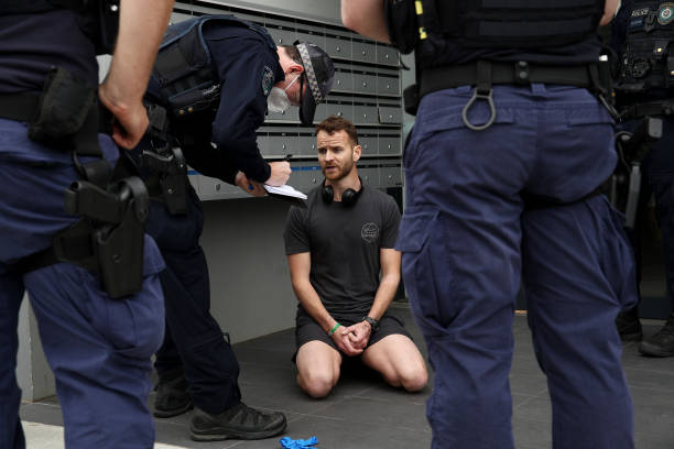 AUS: Anti-Lockdown Protesters Rally Against COVID-19 Restrictions In Sydney