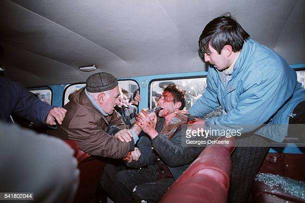 A man is lynched by a crowd following a shooting at a rally in support of Zviad Gamsakhurdia | Location Georgia