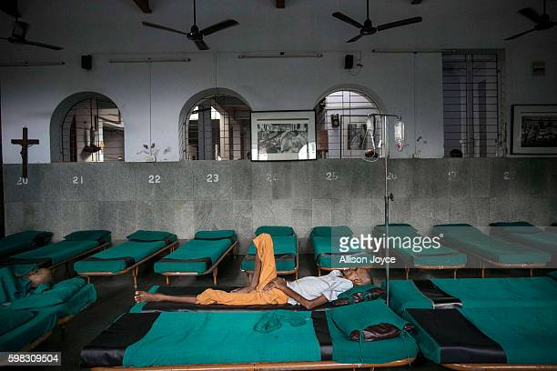 A man is seen at Nirmal Hriday a Missionaries of Charity run hospice for the sick destitute and the dying August 30 2016 in Kolkata India On...