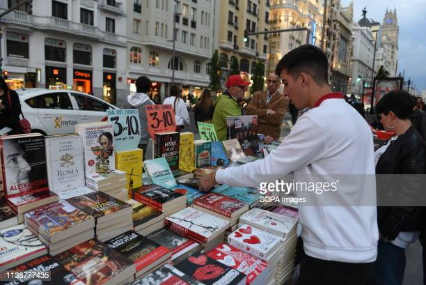 A man is seen buying books ahead of the world book day celebration Tomorrow 23 April World Book Day is celebrated all over the world The specific...