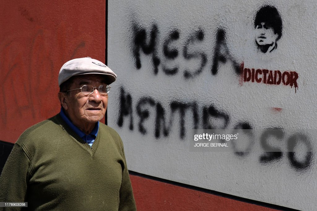 BOLIVIA-ELECTION-RESULTS-PROTEST : News Photo