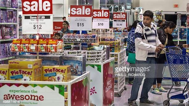 A man is seen shopping in a ToysRUS store in Fairfax Virginia on November 26 on a Black Friday sale that started a day earlier during Thanksgiving...