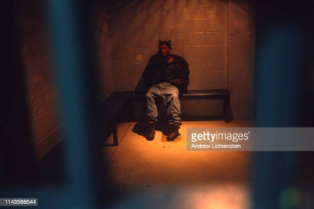 Man is under arrest on January 1, 1994 in Bridgeport, Conneticut. During the height of America's crack epidemic, post industrial cities received...