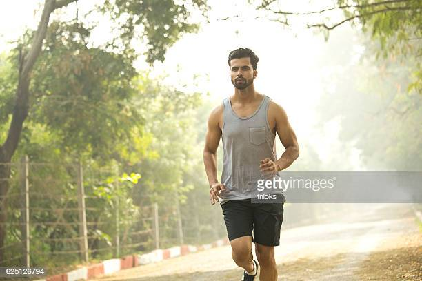 Man jogging at park