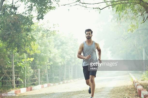 Man jogging at park