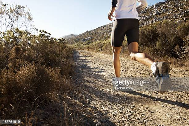Man jogging in the countryside