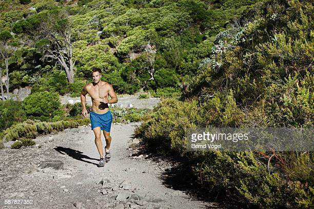 Man jogging outdoors