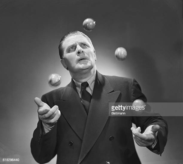1942 Man juggling four balls Photograph 1942 BPA2#2262