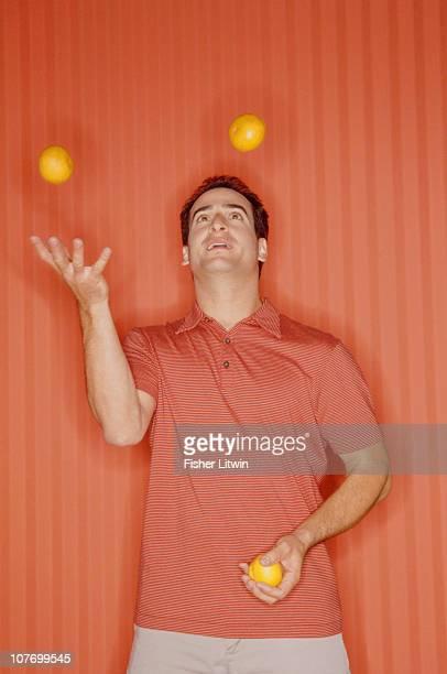 Man juggling