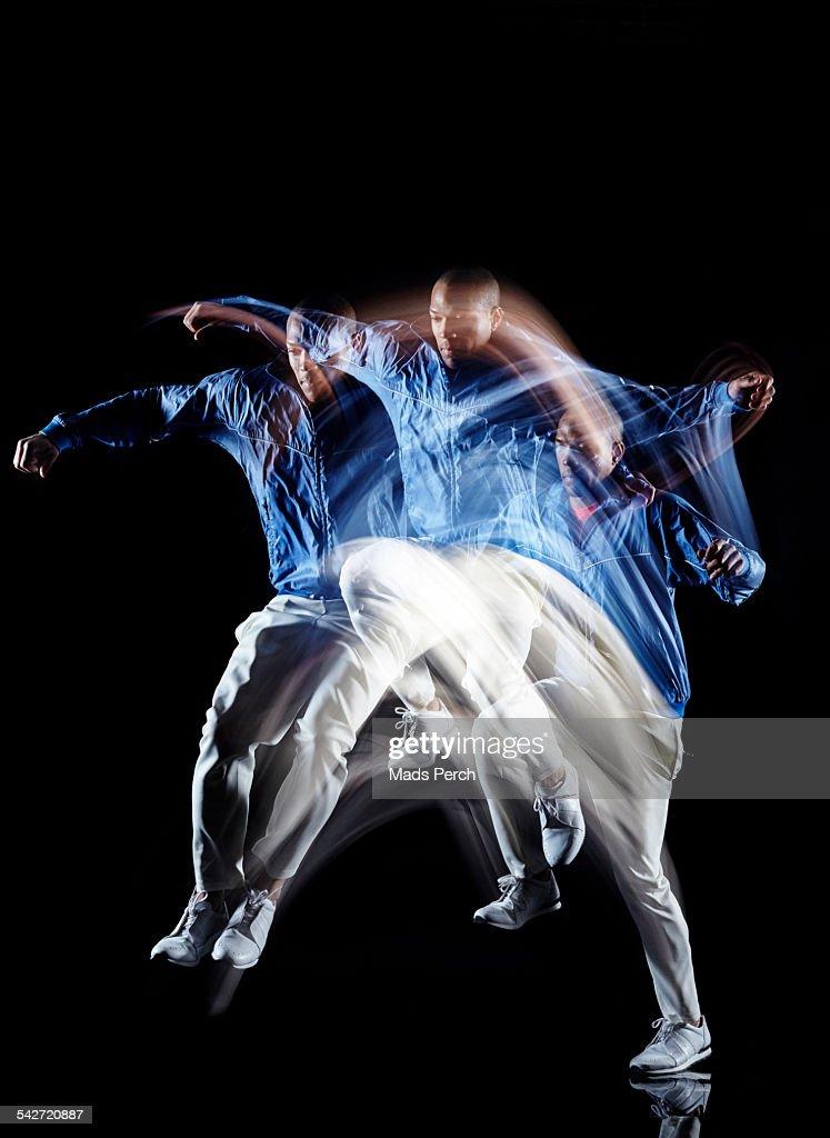 Man Jumping : Stock Photo