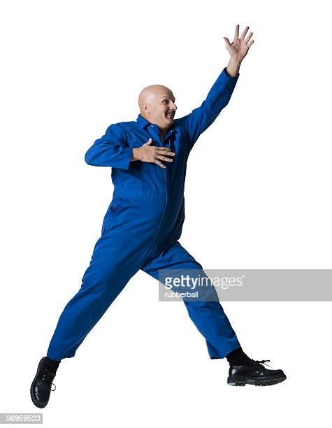 A man jumping