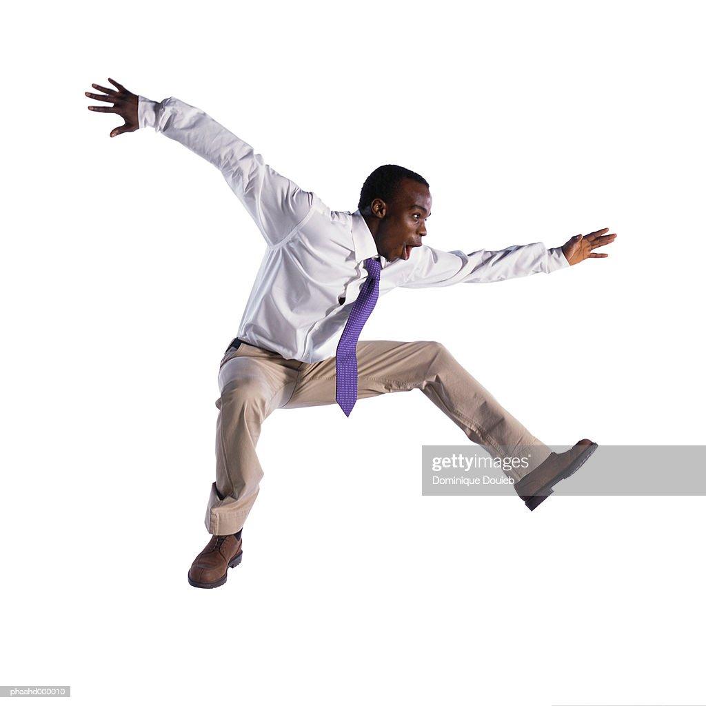 Man jumping : Stockfoto
