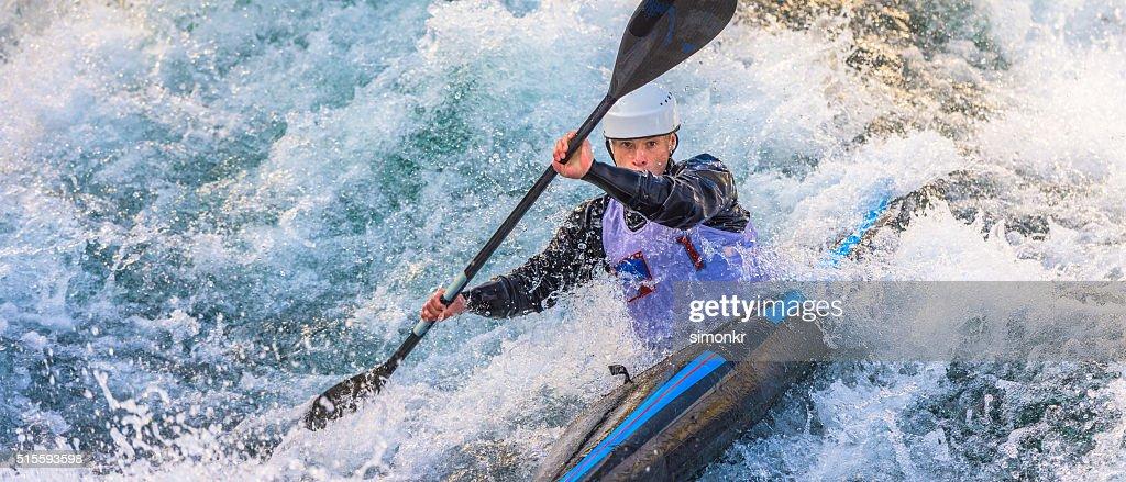Man kayaking : Stock Photo