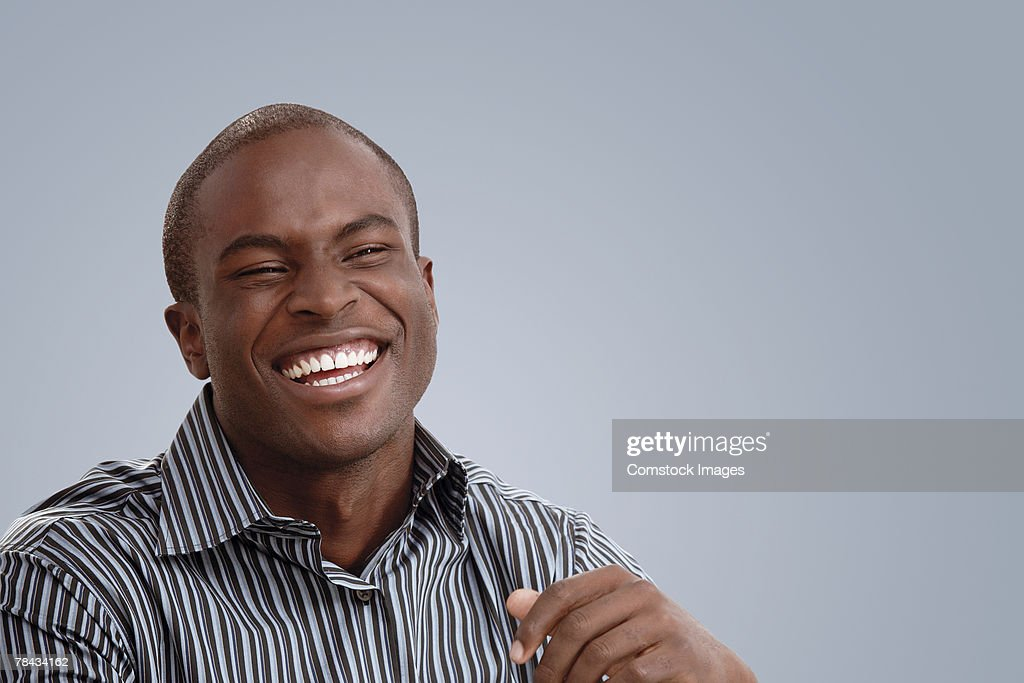 Man laughing : Stockfoto