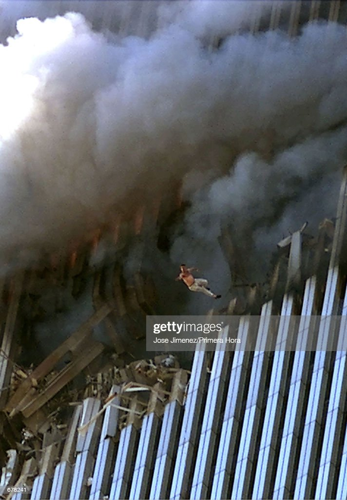 World Trade Center Hit in Terrorist Attack : News Photo