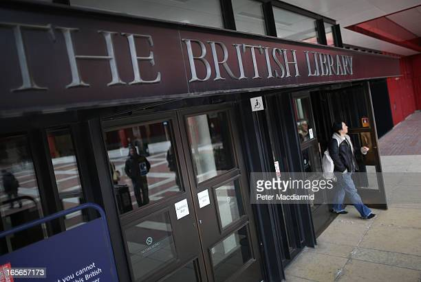 A man leaves The British Library on April 5 2013 in London England The British Library and four other organisations have been given the right to...