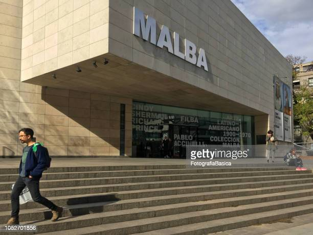 Man leaving the MALBA museum, Buenos Aires, Argentina