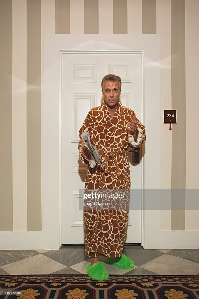 Man Locked Out Of Hotel Room Stock Photo   Getty Images