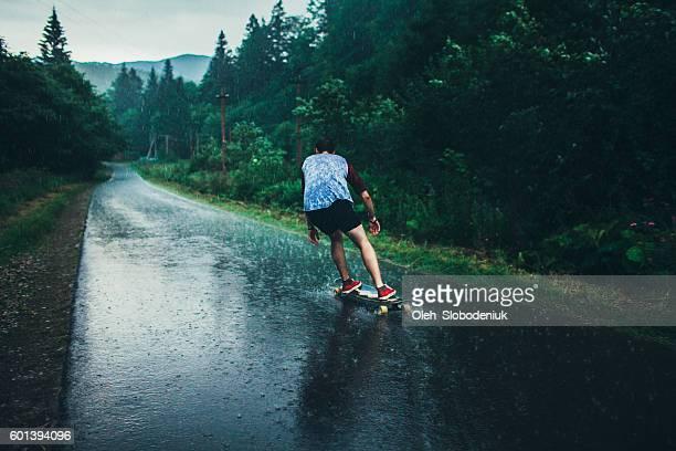 Man longboarding
