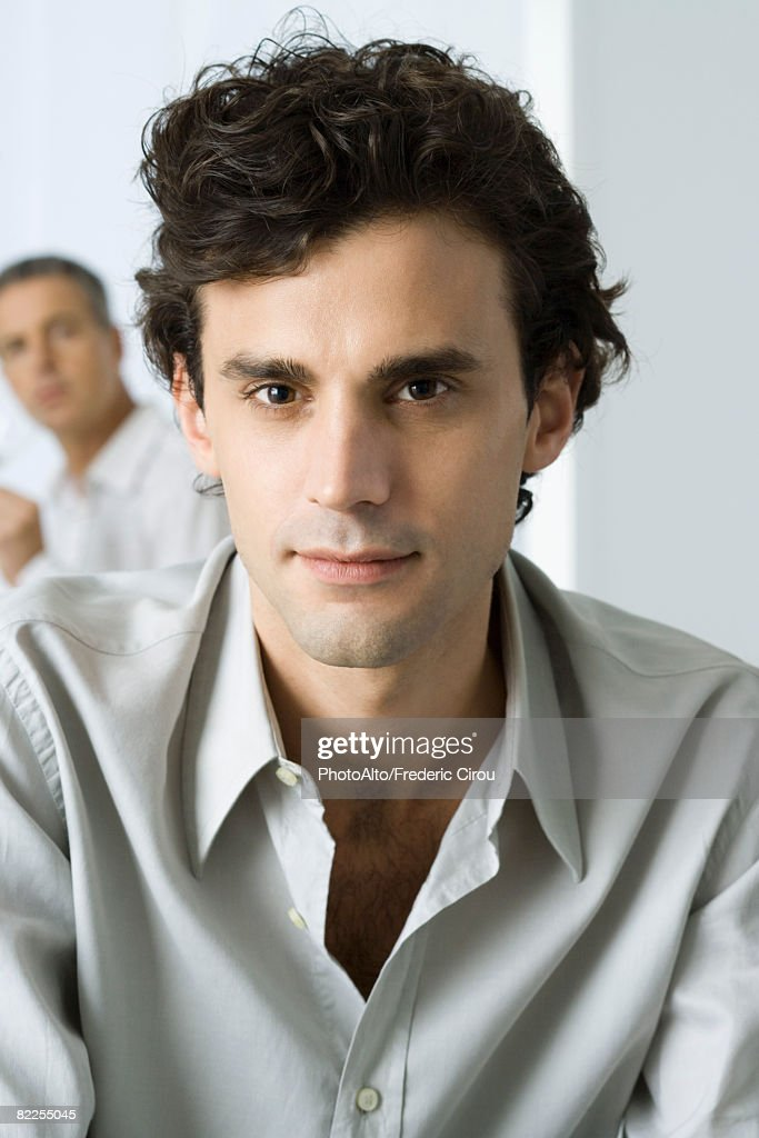 Man looking at camera, portrait : Stock Photo