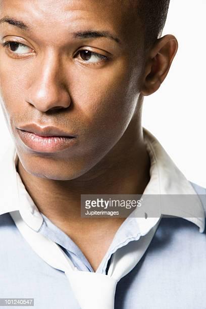 A man looking away