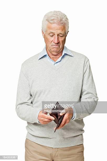 Man Looking For Money in His Wallet - Isolated