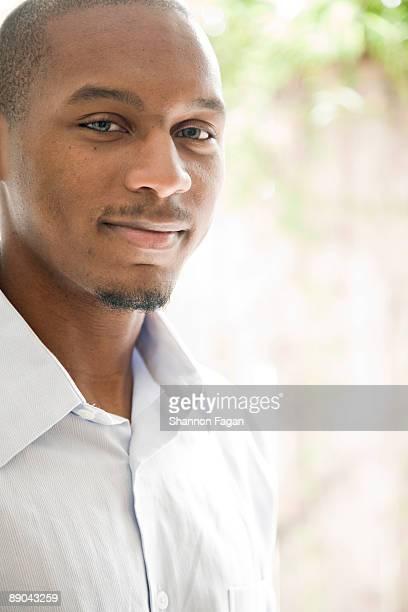 Man Looking Forward and Smiling