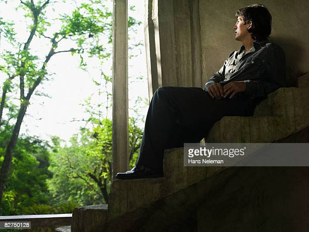 man looking out into the for - las posas stock pictures, royalty-free photos & images