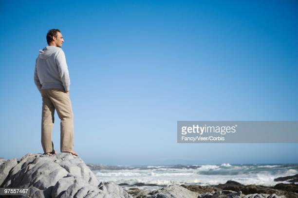 Man looking out to sea