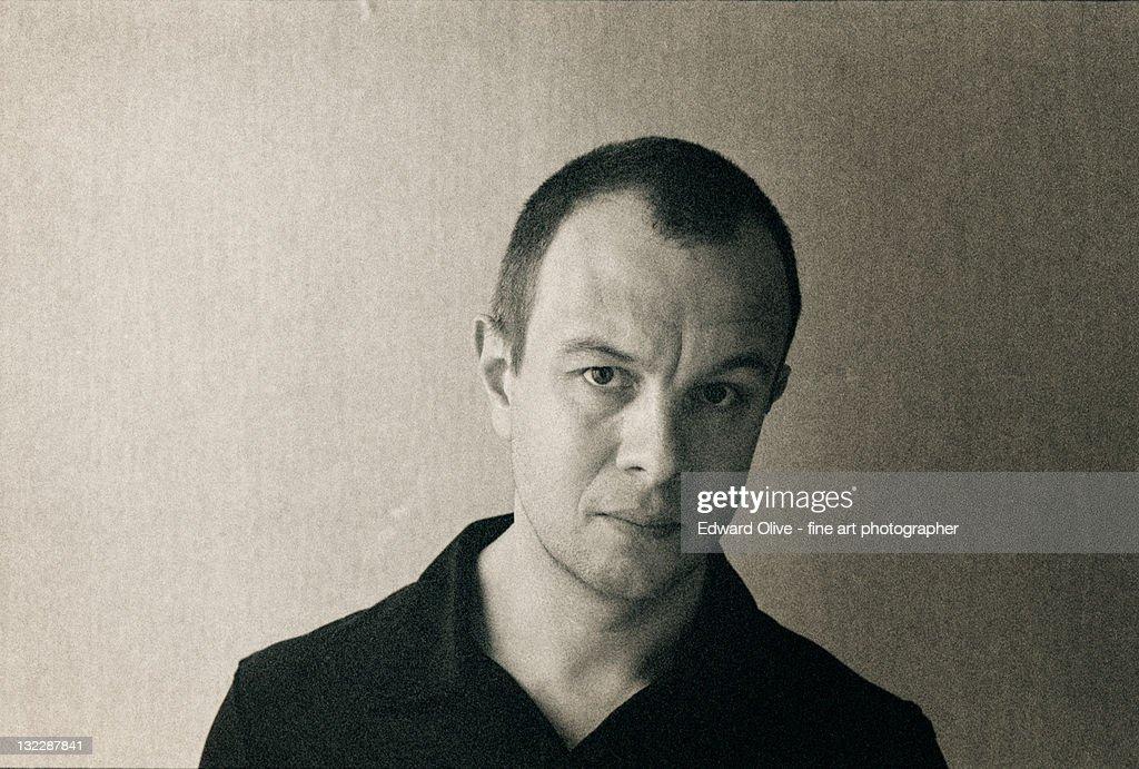Man looking serious : Stock Photo