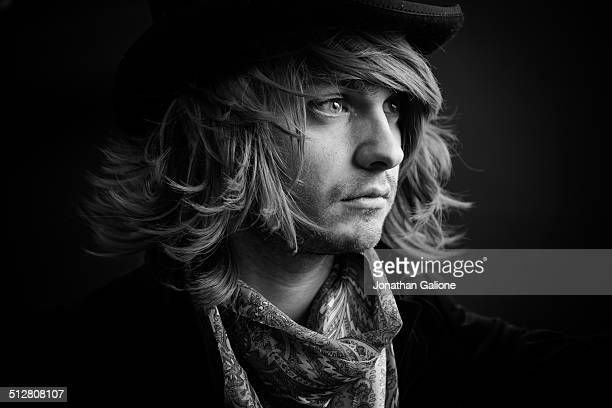 man looking thoughtful - fine art portrait stock pictures, royalty-free photos & images