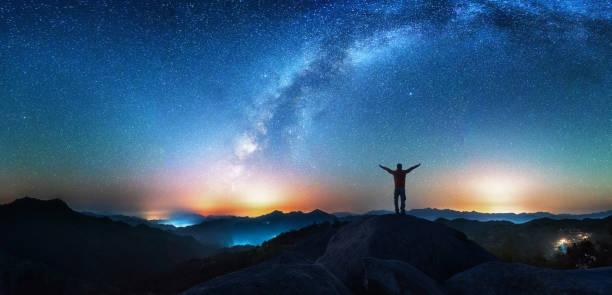 Man Looking Up Milky Way - Fine Art prints