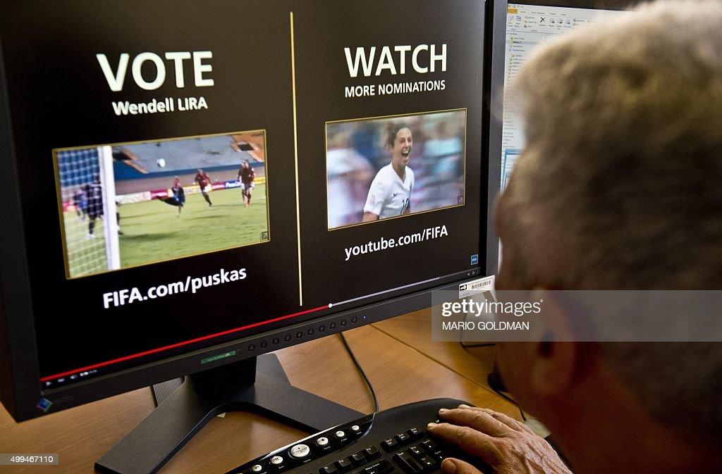 FBL-URUGUAY-BRAZIL-FIFA-PUSKAS-AWARD-LIRA : News Photo