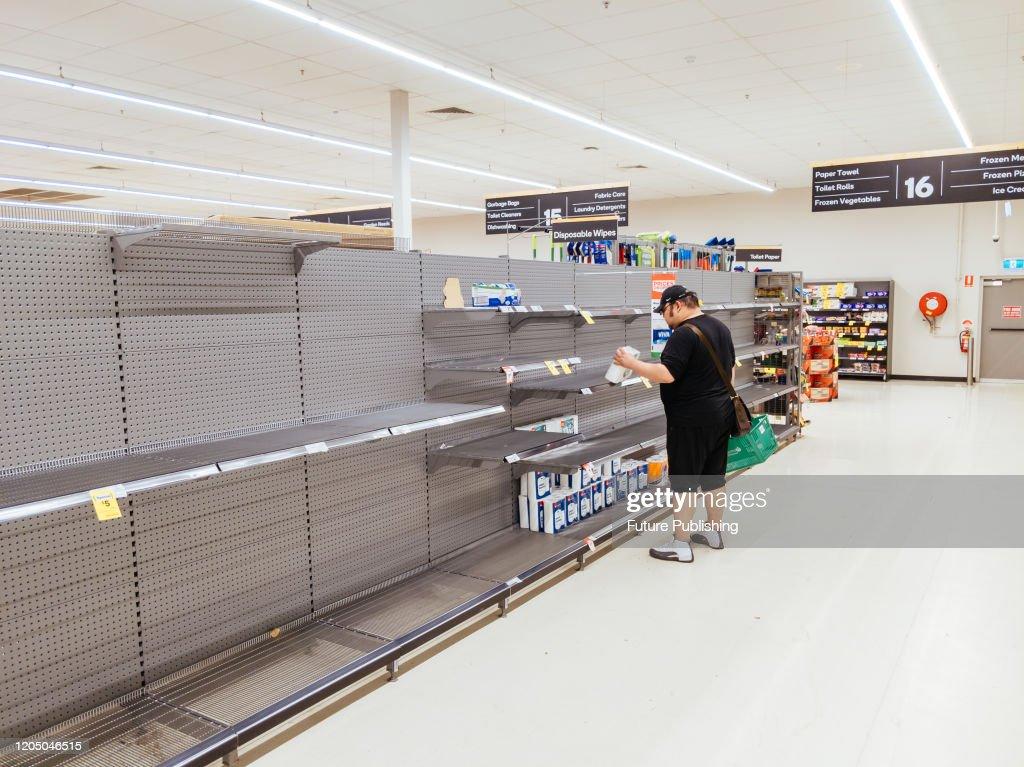 Empty Shelves at Australian Supermarket : News Photo
