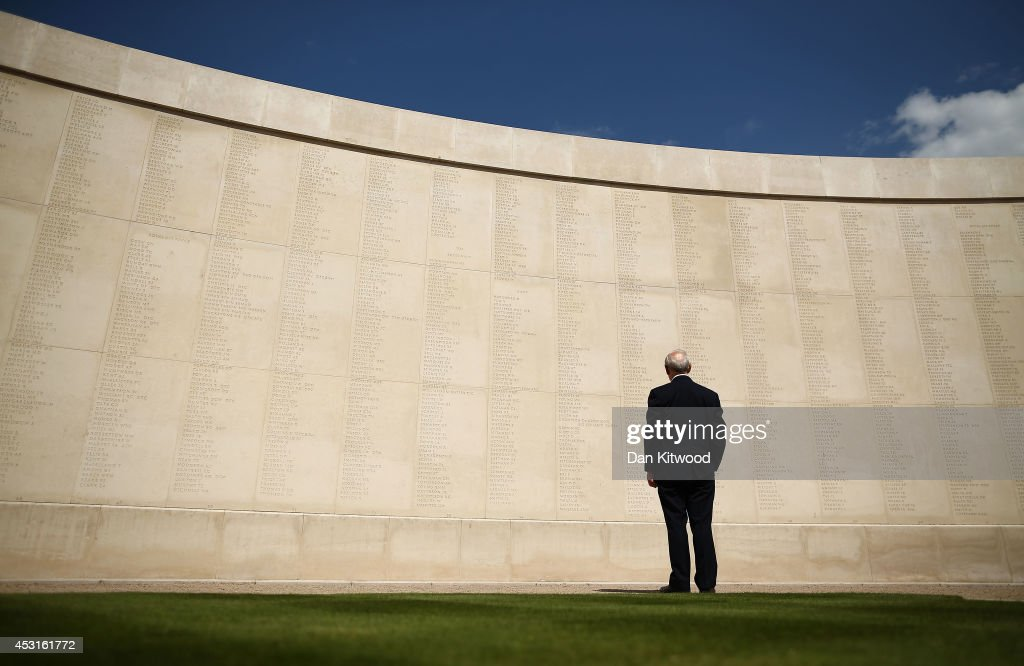 A man looks upon the names of the dead prior to a Candlelit Vigil to mark the centenary of the First World War, at The National Memorial Arboretum on August 4, 2014 in Stafford, England. Monday 4th August marks the 100th anniversary of Great Britain declaring war on Germany. In 1914 British Prime Minister Herbert Asquith announced at 11pm that Britain was to enter the war after Germany had violated Belgium neutrality. The First World War or the Great War lasted until 11 November 1918 and is recognised as one of the deadliest historical conflicts with millions of causalities. A series of events commemorating the 100th anniversary are taking place throughout the day.
