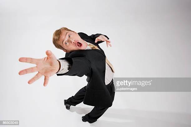 Man loosing his balance
