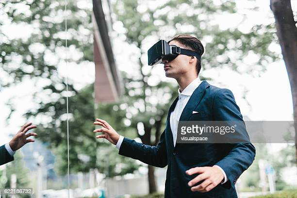 Man Lost in Virtual Reality