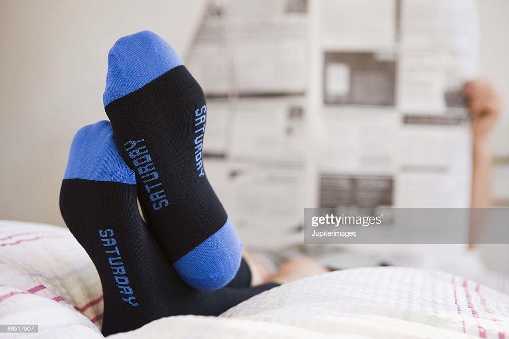 Man lounging : Stock Photo