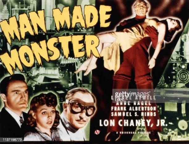 Man Made Monster poster Frank Albertson Anne Nagel Lionel Atwill Lon Chaney Jr 1941