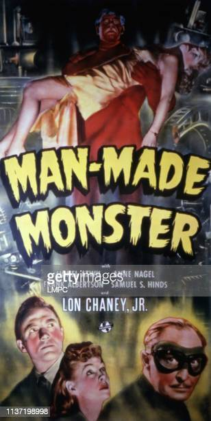 Man Made Monster poster Lon Chaney Jr Frank Albertson Anne Nagel Lionel Atwill 1941