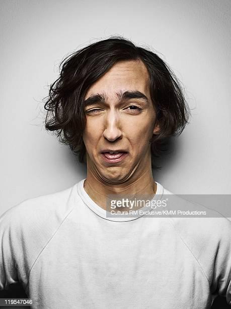 Man making a face