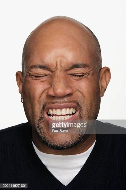 Man making face, close-up