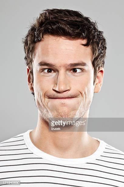 Man making face