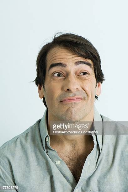 Man making face, portrait