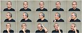 Man making facial expressions