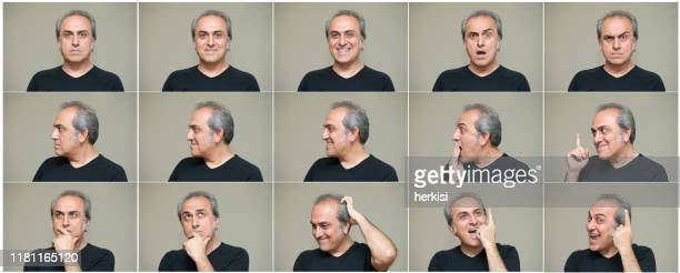 man making facial expressions - part of a series stock pictures, royalty-free photos & images