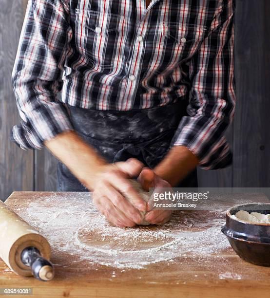 Man Making Pie Crust