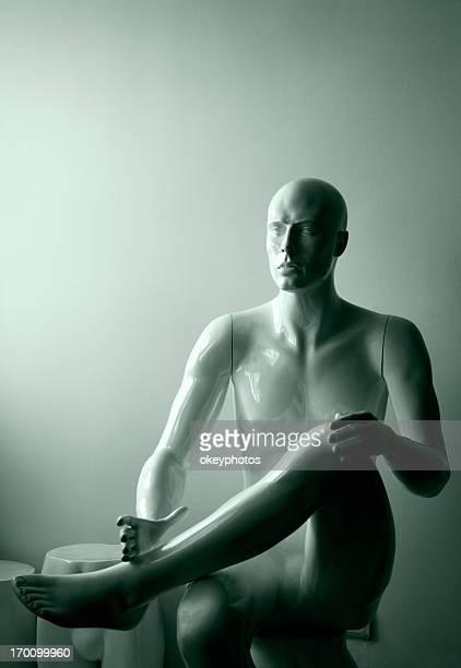 Mann Kleiderpuppe Sitzbereich