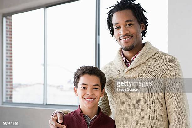 man mentoring boy - idol stock pictures, royalty-free photos & images